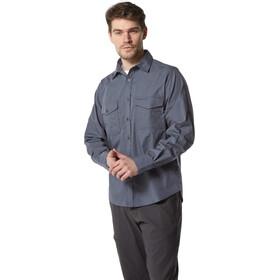 Craghoppers Kiwi Camisa de manga larga Hombre, ombre blue
